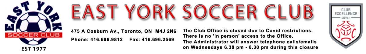 East York Soccer Club – Toronto Ontario Canada Logo